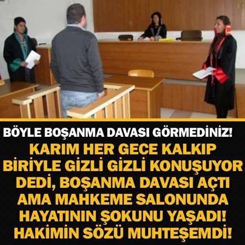 MAHKEME SALONU ADETA BUZ KESTİ!