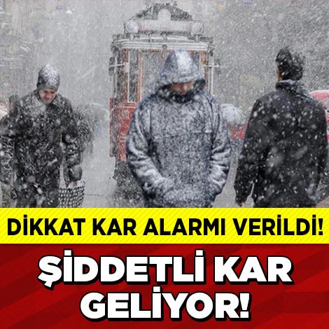Kar Alarmı Verildi! ŞİDDETLİ KAR BEKLENİYOR...