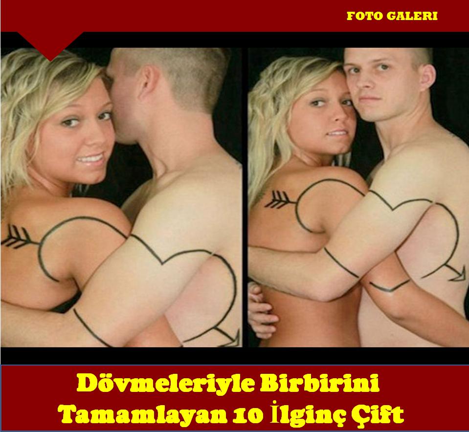 Dövmeleriyle Birbirini Tamamlayan 10 İlginç Çift..!