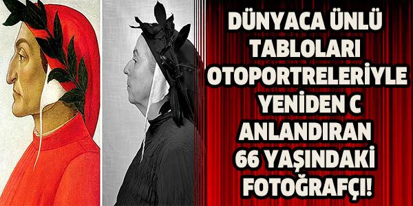Dünyaca Ünlü Tabloları Otoportreleriyle Yeniden Canlandıran 66 Yaşındaki Fotoğrafçı!
