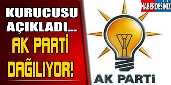 AKP'nin kurucusu bombayı patlattı