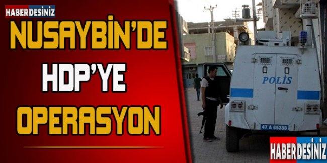 Nusaybin'de HDP'ye operasyon