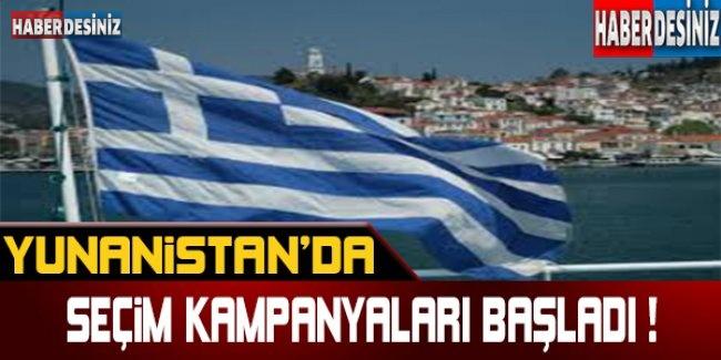 Yunanistan'da seçim kampanyaları başladı !
