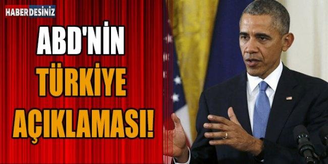 ABD'nin Türkiye Açıklaması!