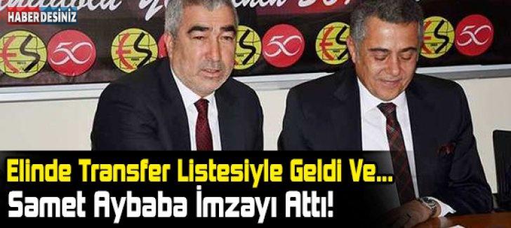 Samet Aybaba, Eskişehirspor'a İmzayı Attı