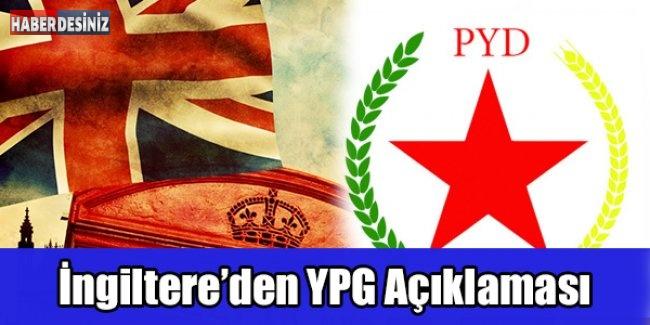 İngiltere'den YPG Açıklaması
