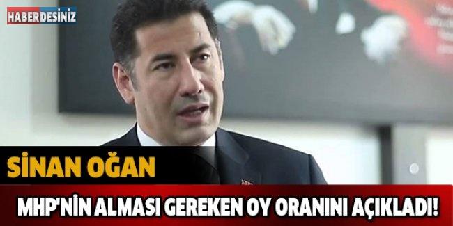 Sinan Oğan MHP'nin alması gereken oy oranını açıkladı