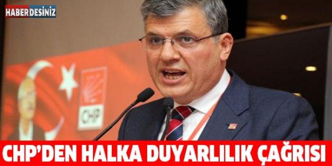 CHP'den halka duyarlılık çağrısı