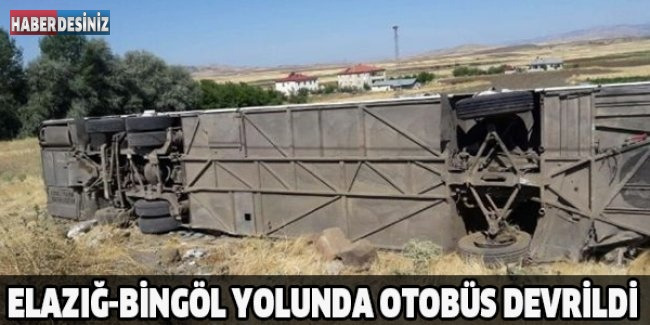 Elazığ-Bingöl yolunda otobüs devrildi