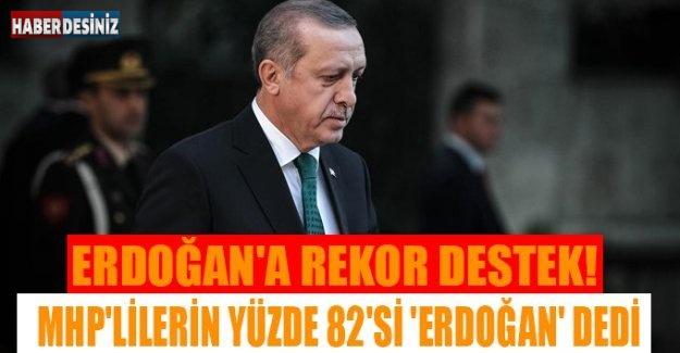 ERDOĞAN'A REKOR DESTEK!