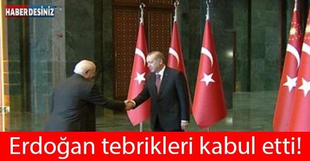 Erdoğan tebrikleri kabul etti!!