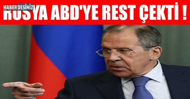 Rusya ABD'ye rest çekti !