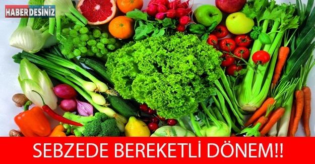 SEBZEDE BEREKETLİ DÖNEM!!