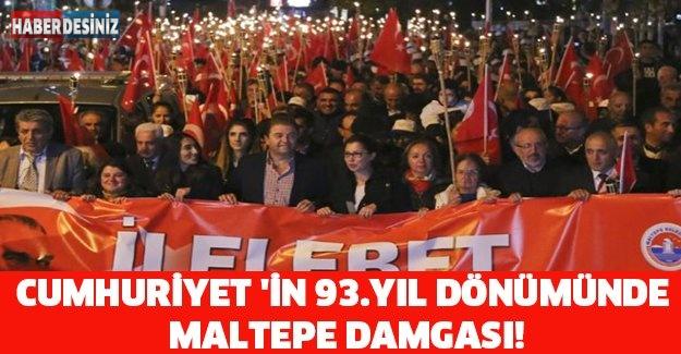 CUMHURİYET 'İN 93.YIL DÖNÜMÜNDE MALTEPE DAMGASI!