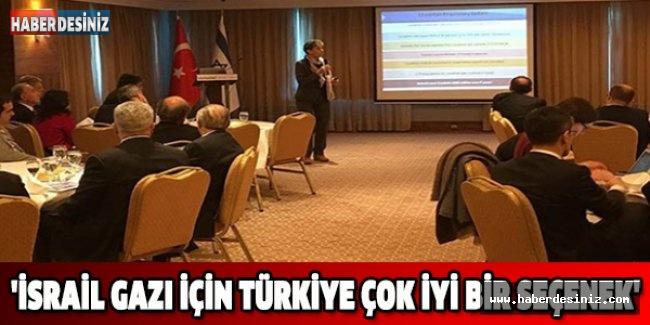 'İsrail gazı için Türkiye çok iyi bir seçenek'