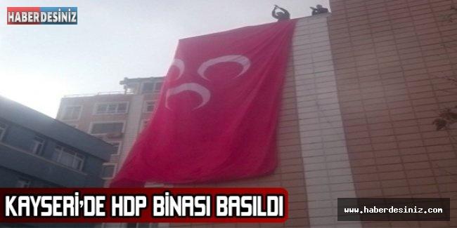 Kayseri'de HDP binası basıldı