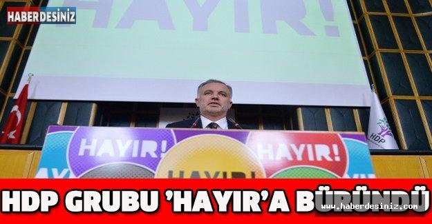 HDP Grubu 'hayır'a büründü