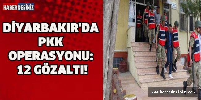 DİYARBAKIR'DA PKK OPERASYONU: 12 GÖZALTI!