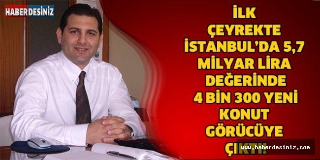 İlk çeyrekte İstanbul'da 5,7 milyar lira değerinde 4 bin 300 yeni konut görücüye çıktı!