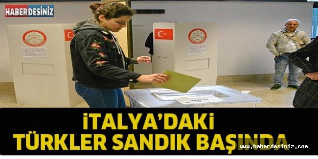 İtalya'daki Türkler sandık başında