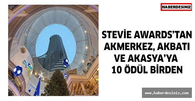 Stevie Awards'tan Akmerkez, Akbatı  ve Akasya'ya  10 ödül birden