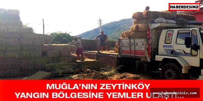 Muğla'nın Zeytinköy Yangın Bölgesine Yemler Ulaştı…