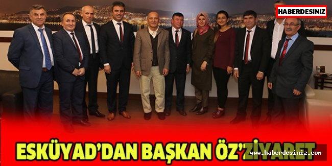 ESKÜYAD'dan Başkan Öz'ziyaret