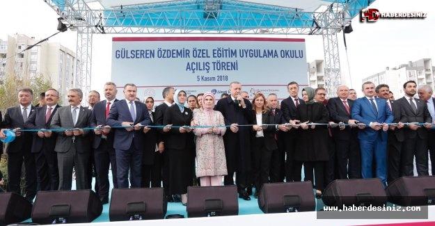 Erdoğan, Gülseren Özdemir Özel Eğitim Uygulama Okulu'nun açılışını yaptı