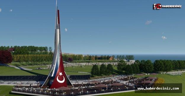 Büyükçekmece'ye 100. Yıl Cumhuriyet Anıtı