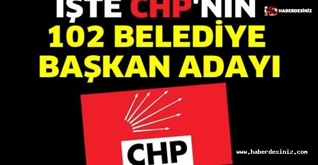 CHP belediye başkan adaylarını açıklandı !