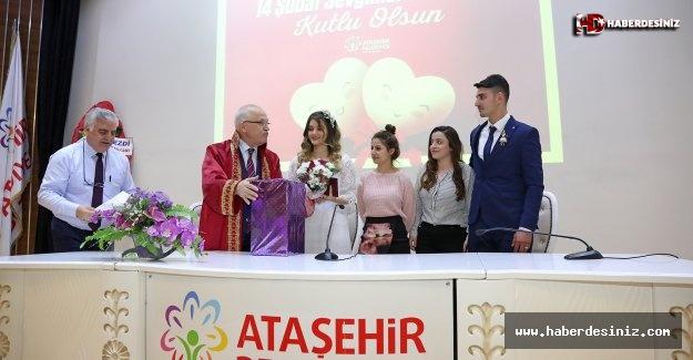 14 Şubat'ta Nikah Salonuna Hücum..