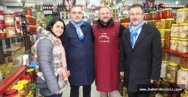 Esnaf ziyaretinde Kemerburgaz'a müjde