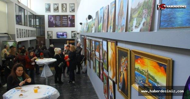 Karma Resim Sergisi Hasan Ali Yücel Kültür Merkezi'nde Açıldı
