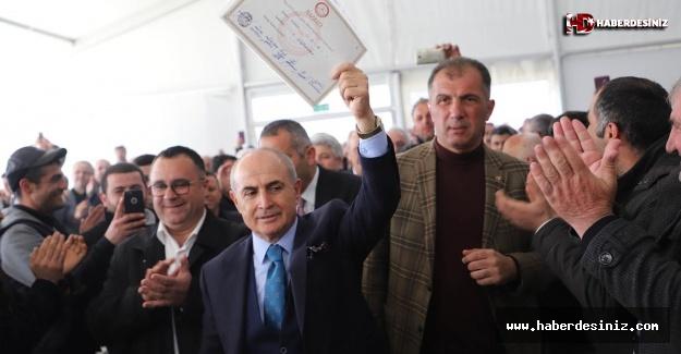 Rekortmen Başkan 6. kez mazbatasını aldı!