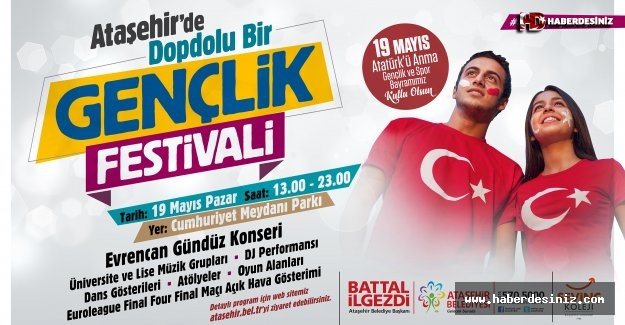 19 Mayıs'ın 100. Yıl Dönümü  Ataşehir'de Coşkuyla Kutlanacak