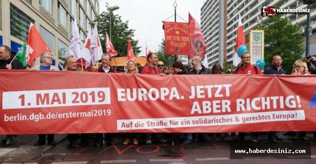 Almanya'da 1 Mayıs gösterileri başladı