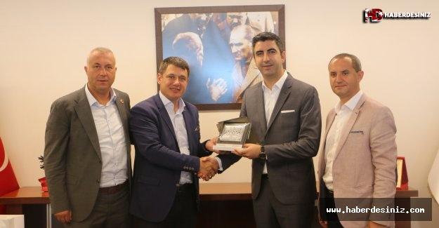 Ardino Belediye Başkanı Resmi Murad'dan Kartal Belediye Başkanı Gökhan Yüksel'e tebrik ziyareti