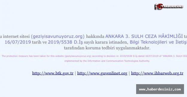 'Gezi'yi savunan' siteye erişim engeli