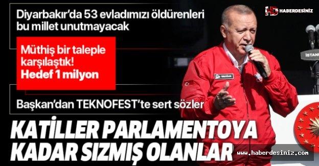 Başkan Erdoğan'dan TEKNOFEST'te önemli açıklamalar.