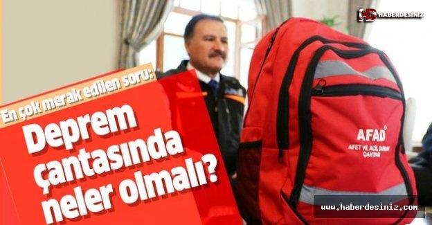 İstanbul'daki deprem sonrası en merak edilen soru bu oldu: Deprem çantasında neler olmalı?