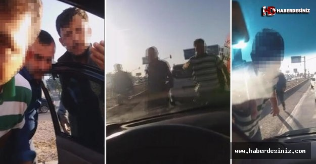 Konya'da trafik magandaları dehşet saçtı!
