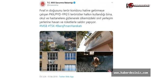 Teröristler sivil bölgelere saldırıyor.