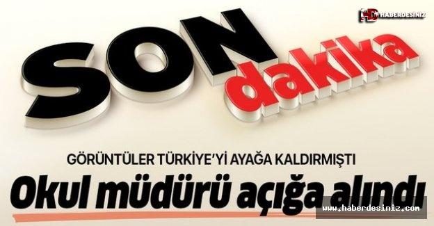 Aksaray'daki okul müdürü açığa alındı!.