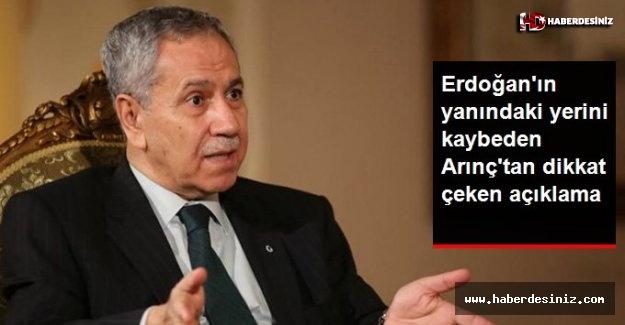 Erdoğan'ın yanındaki yerini kaybeden Arınç'tan yeni açıklama: Sigortayı attırmamak lazım