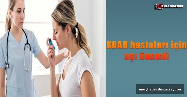 """""""KOAH hastaları için de aşı önemli"""""""
