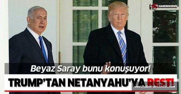 "Trump'tan Netanyahu'ya rest! ""Önemliyse kendisi ödesin""."