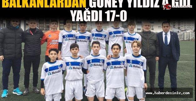 Balkanlardan Güney Yıldız'a Gol Yağdı 17-0