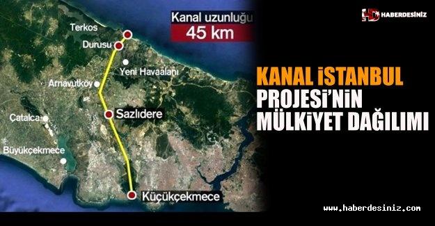 Kanal İstanbul Projesi'nin Mülkiyet Dağılımı