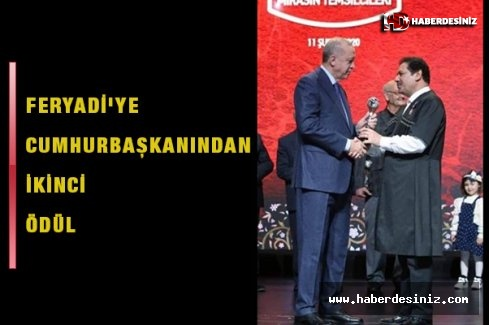 Feryadi'ye Cumhurbaşkanından ikinci ödül