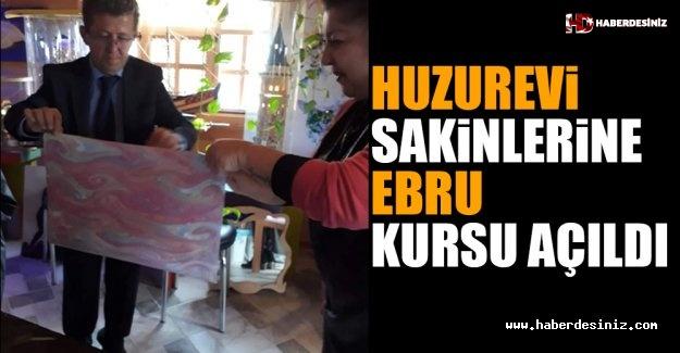Huzurevi Sakinlerine Ebru Kursu Açıldı